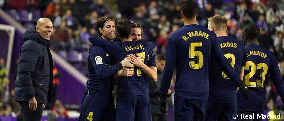 Nacho vuela en Pucela y hace líder al Real Madrid
