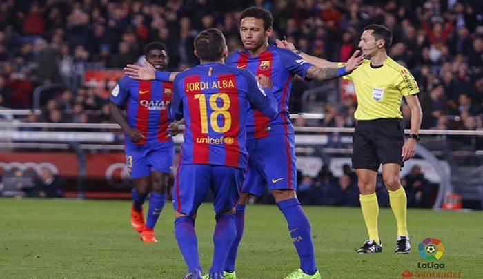 Un Barça a medio gas se ensaña con el Sporting (6-1)