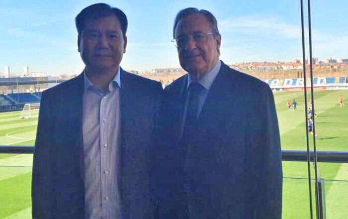 El dueño del Inter se reunió con Florentino en Valdebebas