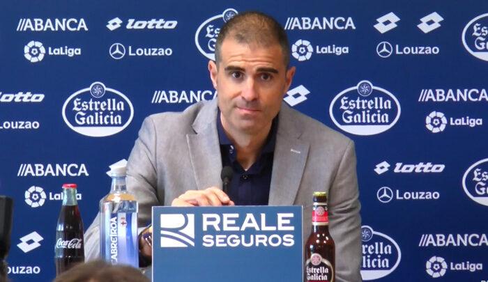 Garitano se despide del Deportivo: «Pepe Mel es una buena elección»